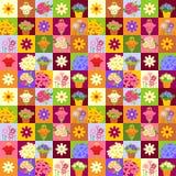 Mosaisk blommamodell Royaltyfri Bild