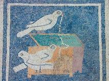 Mosaisk detalj från Pompeii Fotografering för Bildbyråer