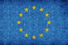Mosaisk flagga av Europa Arkivfoton