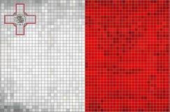 Mosaisk flagga av Malta vektor illustrationer