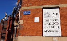 Mosaisk gatakonst i den nordliga fjärdedelen, Manchester, UK Arkivfoton