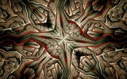 Mosaisk grå bakgrund med röda band Royaltyfri Bild
