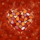 Mosaisk hjärta Arkivbild
