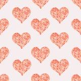 Mosaisk hjärtamodell Arkivbild
