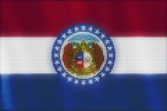 Mosaisk hjärtategelplattamålning av den Missouri flaggan stock illustrationer