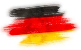 Mosaisk hjärtategelplattamålning av Tysklandflaggan vektor illustrationer