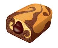 Mosaisk illustration för kakaovaniljmuffin vid OBS stock illustrationer