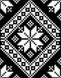 Mosaisk illustration för vektor för motivbroderitextur stock illustrationer