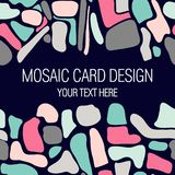 Mosaisk kortdesign med stället för din text royaltyfri illustrationer
