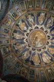 mosaisk kupol för 10th århundrade i Ravenna Italien Arkivfoto