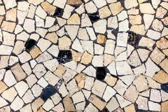 Mosaisk neutral bakgrund för keramiska tegelplattor arkivfoto