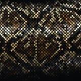 Mosaisk orm Skin_2 Arkivfoto