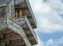 Mosaisk pagod Lin Phuoc i staden av Dalat Vietnam, en buddistisk tempel delningar arkivfoto