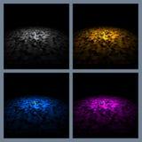 Mosaisk plattform för abstrakt bakgrund Arkivbild