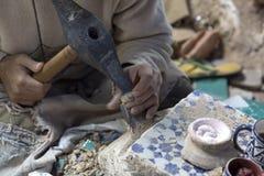 Mosaisk produktion i Marocko arkivfoton