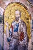 Mosaisk stående av St Paul Arkivfoto