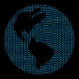 Mosaisk symbol för jord av rastrerade cirklar royaltyfri illustrationer