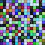 Mosaisk tegelplatta. Fotografering för Bildbyråer