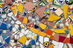 Mosaisk textur för färgrik tegelplatta royaltyfria bilder