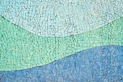 Mosaisk vägg som göras av den keramiska tegelplattan Royaltyfri Fotografi