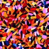 Mosaiska färgrika kaotiska polygoner Abstrakt geometrisk bakgrundsdesign GeometriGrungediagram Polygonal modell illustration Arkivfoton