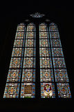 Mosaiska fönster i den Zagreb domkyrkan Arkivbilder