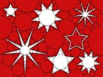 Mosaiska julstjärnor Fotografering för Bildbyråer
