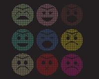 Mosaiska symboler av smileyframsidor. Royaltyfri Bild