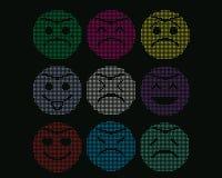 Mosaiska symboler av smileyframsidor. Royaltyfria Foton