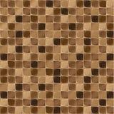 Mosaiska tegelplattor för badrum och brunnsort Seamless bakgrund upprepa textur Brun skinande tegelplattaillustration Arkivfoto