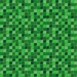 Mosaiska tegelplattor för badrum och brunnsort Seamless bakgrund upprepa textur Grön tegelplattaillustration Arkivfoto