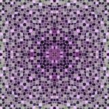 Mosaiska tegelplattor i burgundy färg Arkivbilder