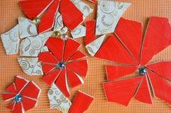 Mosaiska tegelplattor med slagträet royaltyfri fotografi