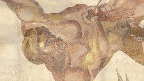 Mosaiskt fragment Roman Villa Romana del Casale, Sicilien, UNESCOvärldsarv lager videofilmer