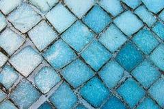Mosaiskt golv i blått Arkivbild
