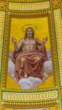 Mosaiskt kupolhelgon Stephens Cathedral Budapest Hungary för Kristus Arkivfoton