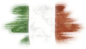 Mosaiskt måla för hjärtategelplattor av den italienska flaggan stock illustrationer