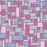 Mosaiskt sömlöst från rektanglar - vektorillustration Arkivfoton