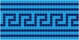 Mosaïque bleue Image libre de droits