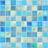 Mosaïque bleue de tuile Photos libres de droits