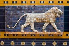 Mosaïque de Babylonien de porte d'Ishtar Photos libres de droits