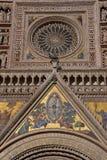 Mosaïque de façade de dôme d'Orvieto Images libres de droits
