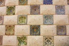 Mosaïque de Gaudi Photographie stock libre de droits