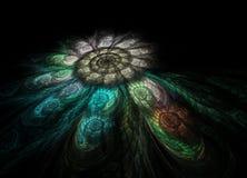 Mosaïque spiralée de fractale Photo libre de droits