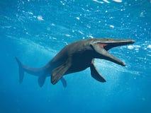 Mosasaurus,巨大的海洋蜥蜴,在70和66百万之间的绝种Mosasaur年前3d例证 库存例证