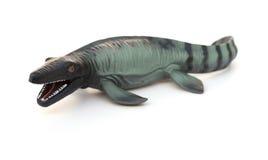 Mosasaurus toy on white. Background royalty free stock photos