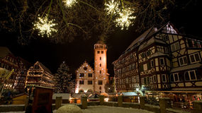 Mosbach. The Christmassy Old Town of Mosbach in Germany Stock Photo