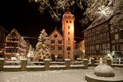 Mosbach. The Christmassy Old Town of Mosbach in Germany Royalty Free Stock Images