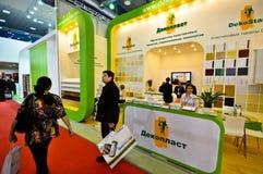 MosBuild 2012年陈列,莫斯科4月, 11 2012年,俄罗斯 库存图片