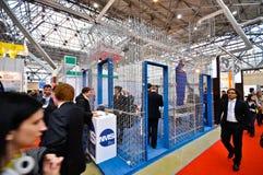 MosBuild 2012年陈列,莫斯科4月, 11 2012年,俄罗斯 免版税图库摄影